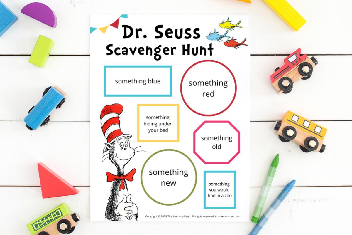Dr. Seuss Scavenger Hunt Printable for Kids