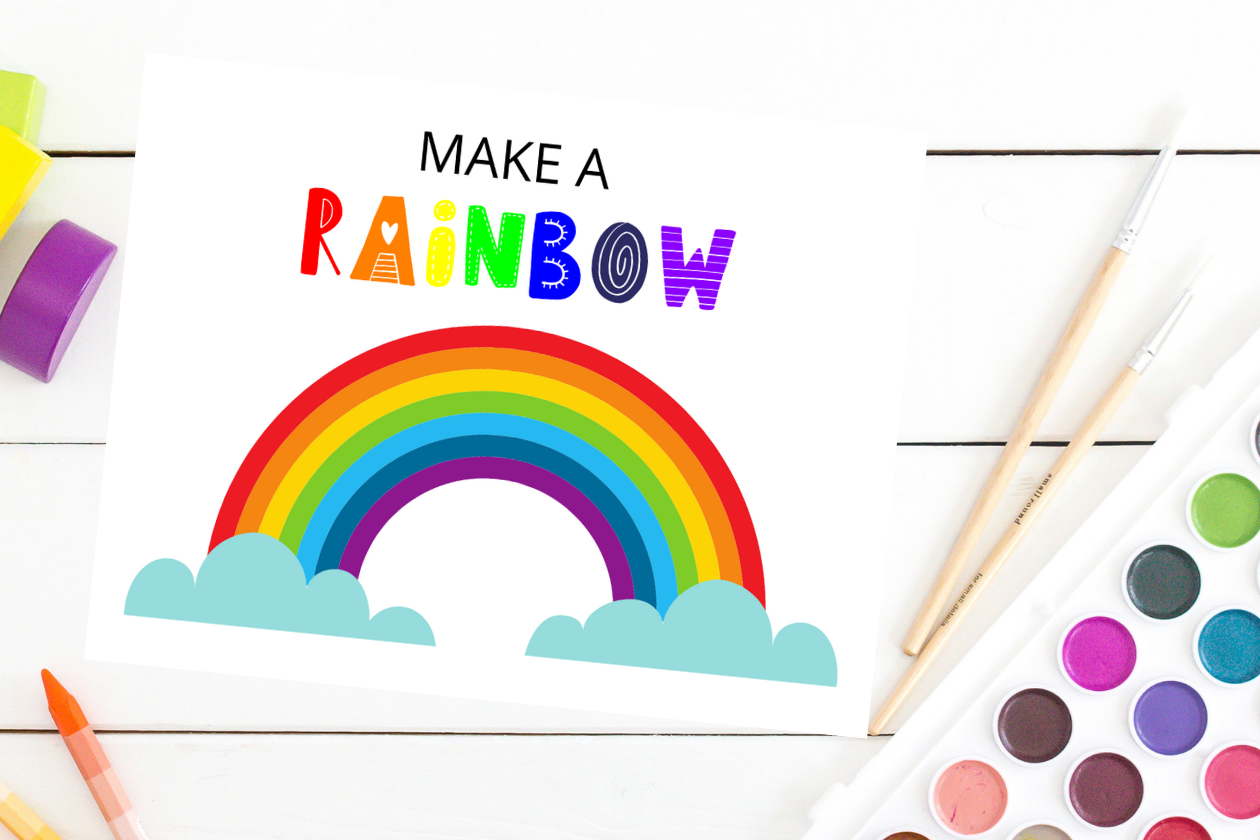 Make a Rainbow Craft for Preschoolers from Tiny Humans Read - Printables for Kids