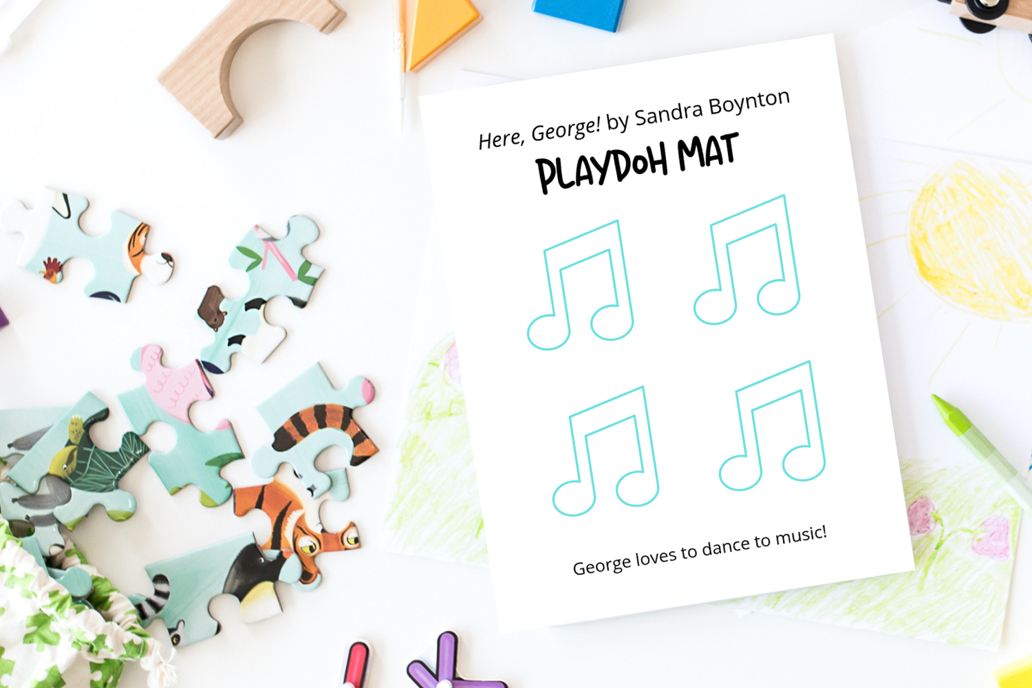 Playdoh Mat - Printables for Kids from Tiny Humans Read