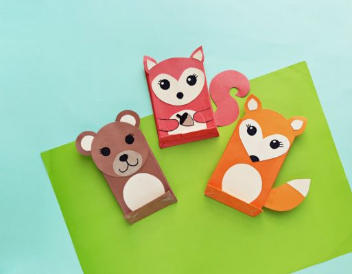 Woodland Animal Paper Craft for Kids from Tiny Humans Read Book Subscription Box for Kids